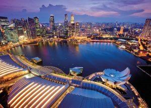 پازل ۱۰۰۰ تکه skyline singapore
