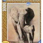 پازل ۱۰۰۰ تکه طرح چوب خانواده فیل