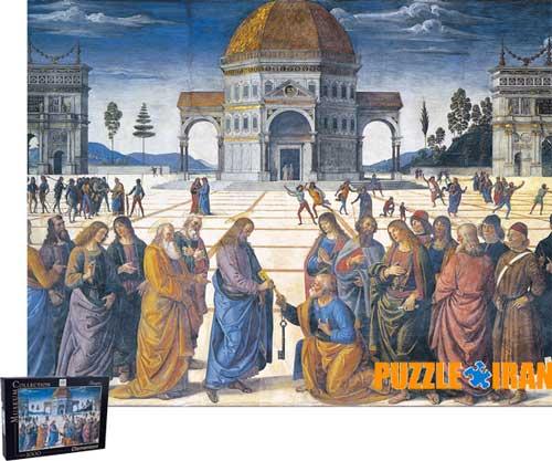 پازل 1000 اعطای کلید از مسیح به سنت پیتر Clementoni Christ Giving The Keys To Saint Peter