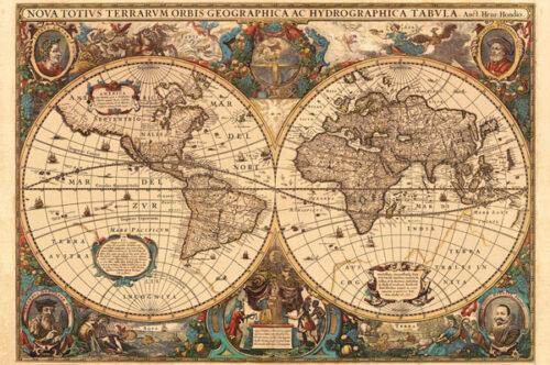 نقشه نقشه قدیمی جهان