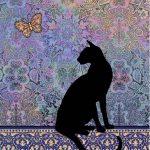 پازل ۱۰۰۰ تکه گربه سیلوئت اثر جین کروثر