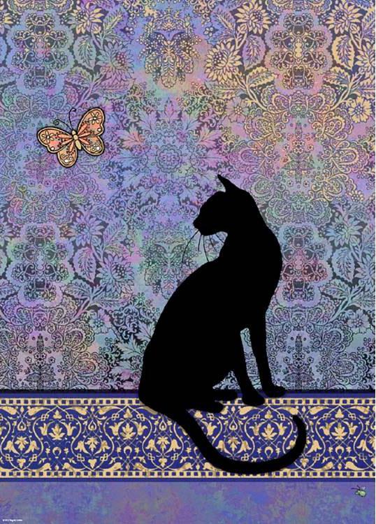 گربه سیلوئت silhouette cat پازل 1000 تکه هی heye