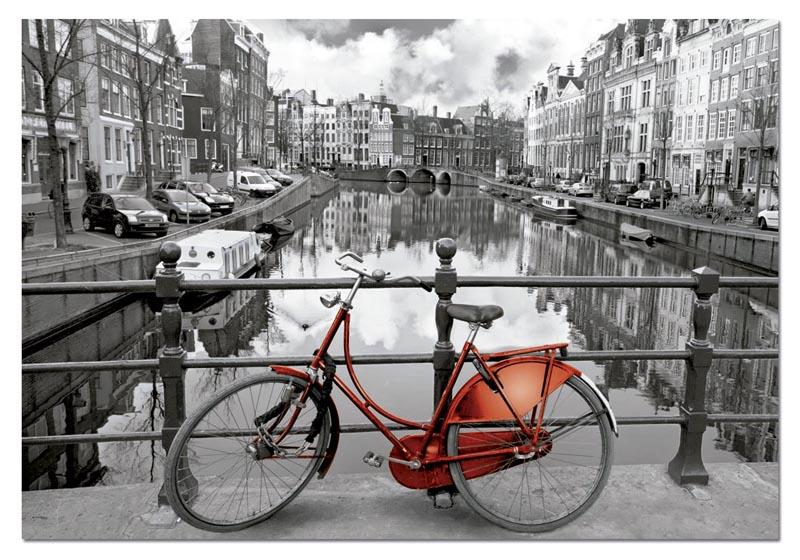 AMSTERDAM آمستردام پازل سیاه سفید