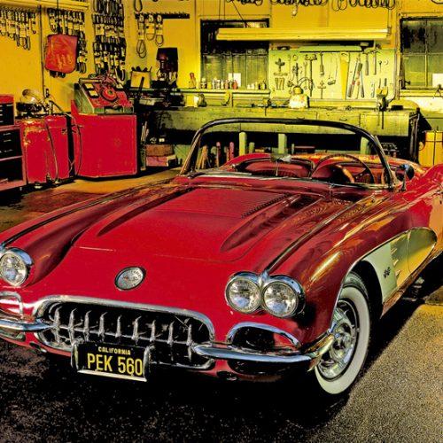educa garage vintage گاراژ قدیمی ماشین قرمز پازل ادوکا