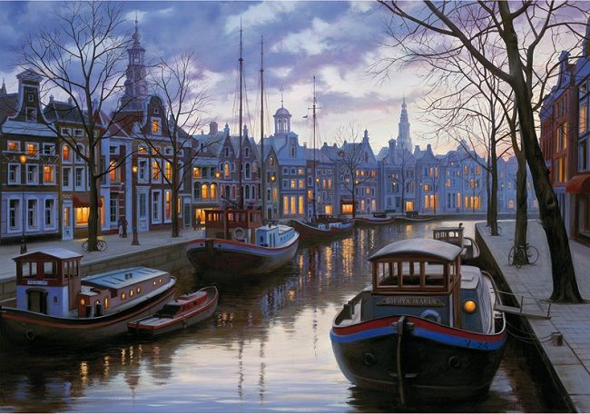 Amsterdam In The Evening،پازل،شب،1500،ادوکا