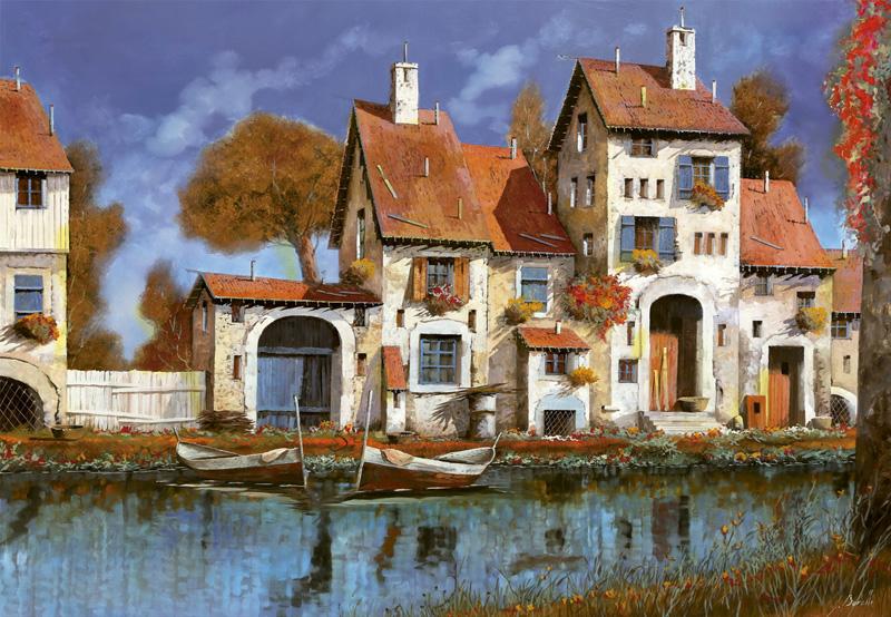 پازل ۲۰۰۰ تکه Borelli: Homestead at the Lake