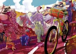 تور صورتی پازل دوچرخه heye