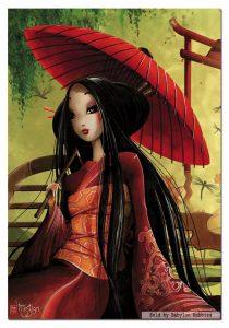 پازل 500 تکه دختری با چتر ژاپنی