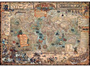 نقشه 3000 دزدان دریایی