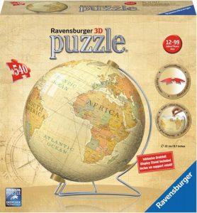 کره سه بعدی پازل نقشه جهان با پایه نگهدارنده