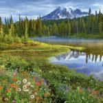 پازل ۱۵۰۰ تکه انعکاس کوه رینیر اثر جفری موری
