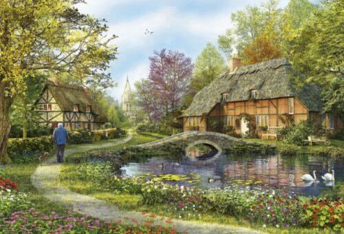 پازل ۵۰۰۰ تکه Meadow Cottages