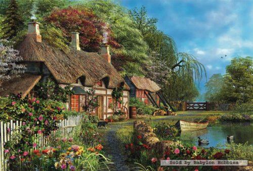 پازل ۴۰۰۰ تکه Riverside Home in Bloom