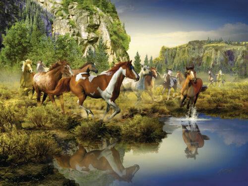 پازل ۱۵۰۰ تکه Wild Horses