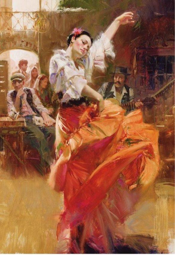 پازل ۱۵۰۰ تکه flamenco in red