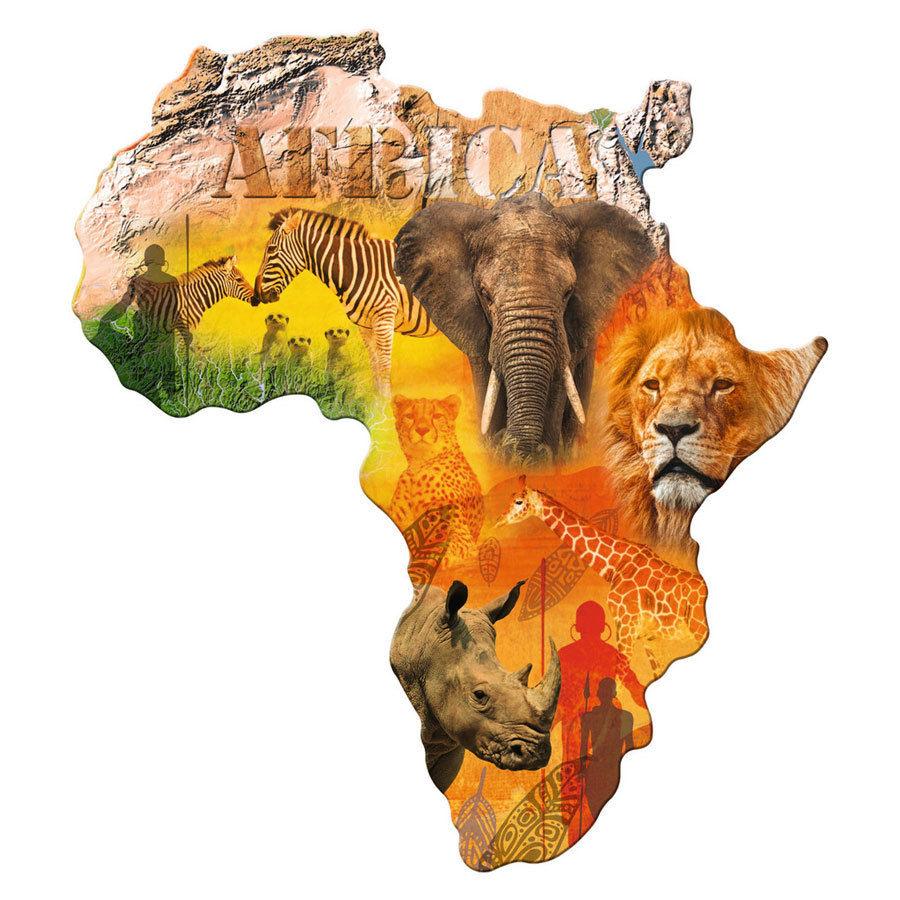 پازل ۱۰۰۰ تکه قاره آفریقا
