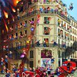 پازل ۱۰۰۰ تکه آتش نشانی اثر فرانسوا رویر