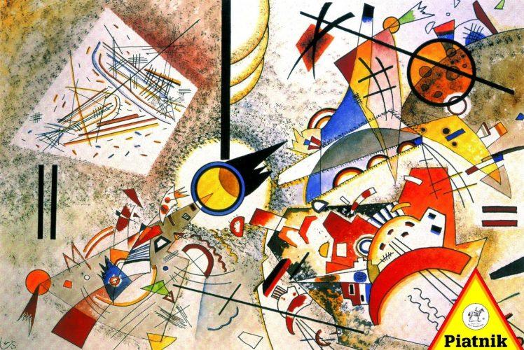 پازل ۱۰۰۰ تکه Bustling Aquarelle – Kandinsky