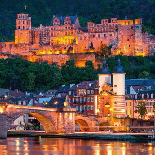 پازل ۱۰۰۰ تکه Heidelberg in the evening