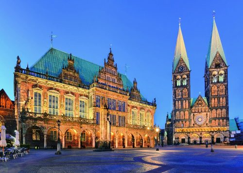 پازل ۱۰۰۰ تکه Bremen: View Town Hall
