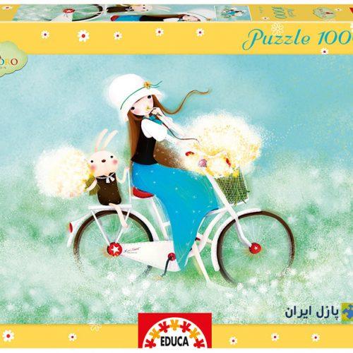 پازل دختری با دوچرخه