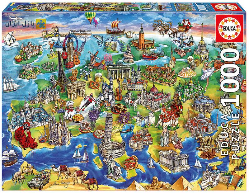 نقشه اروپا