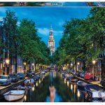 پازل ۱۵۰۰ تکه کانال آمستردام عصر هنگام اثر کن کامینسکی