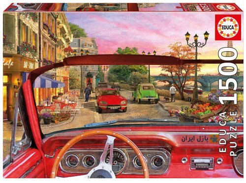 پازل پاریس از داخل یک ماشین