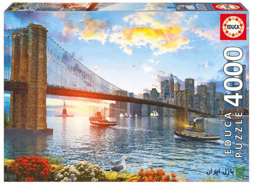 نمایی از پل بروکلین 4000 تکه