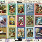 پازل ۲۰۰۰ تکه تمبرهای سفر