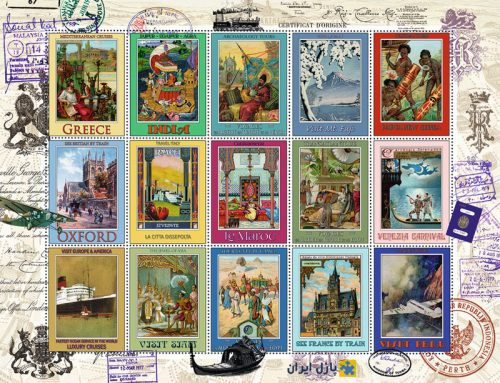 Ravensburger 16602- 2000 pcs - Vacation Stamps