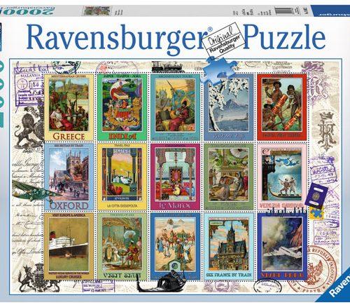 Ravensburger 16602- 2000 pcs - Vacation Stamps