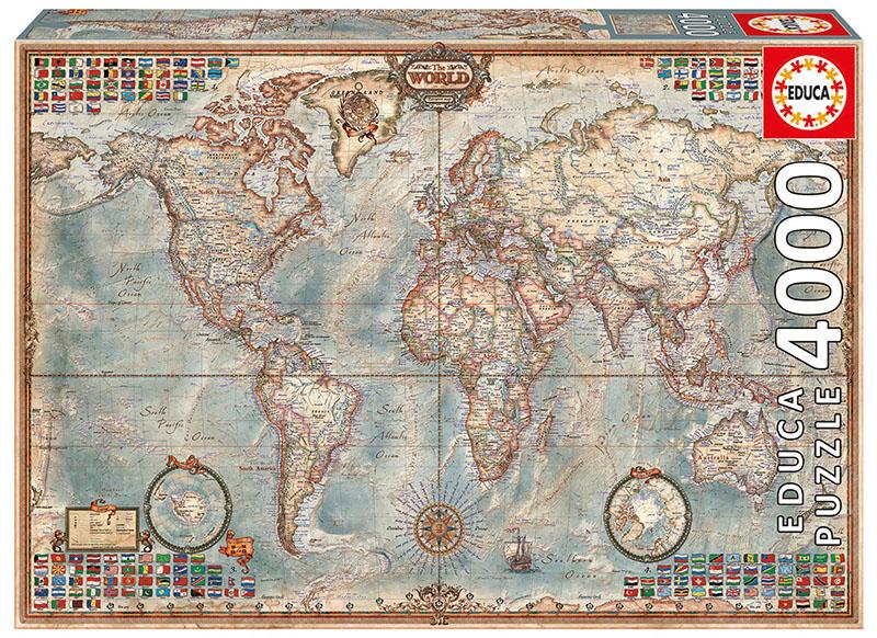 پازل ۴۰۰۰ تکه جهان، نقشه اجرایی
