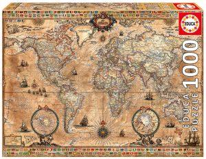 پازل ۱۰۰۰ تکه نقشه قدیمی جهان