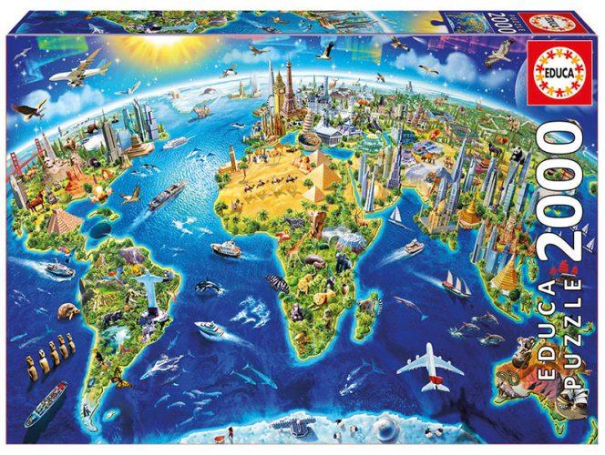 پازل ۲۰۰۰ تکه دیدنی های جهان