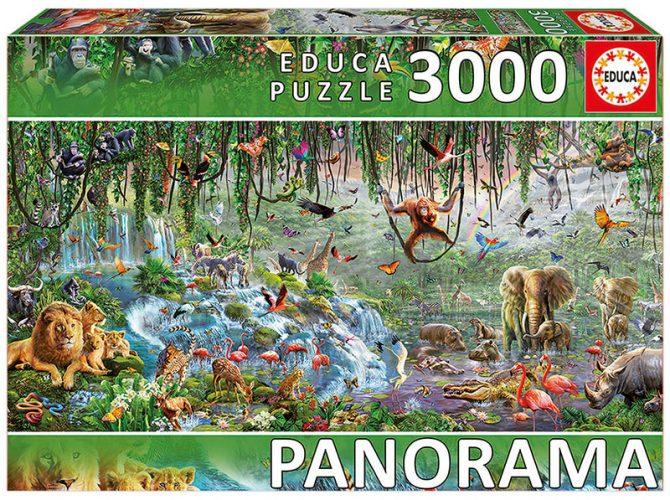 پازل ۳۰۰۰ تکه پانوراما قطعه ای از تابلو حیات وحش