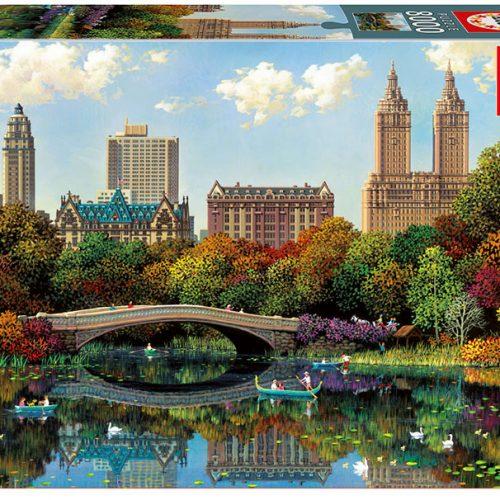 پازل ۸۰۰۰ تکه پل کمانی پارک مرکزی اثر الکساندر چن