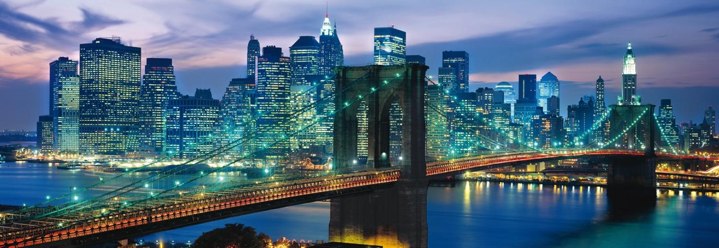 پازل ۱۰۰۰ تکه پانوراما پل بروکلین نیویورک پازل ایران