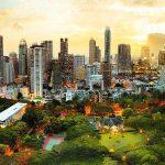 پازل ۳۰۰۰ تکه غروب بانکوک – تایلند