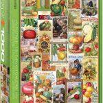 پازل ۱۰۰۰ تکه مجموعه کاتالوگ های دانه سبزیجات