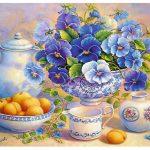پازل ۱۰۰۰ تکه دسته گل آبی