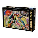 پازل ۱۰۰۰ تکه نقاشی با رنگ قرمز اثر واسیلی کاندینسکی